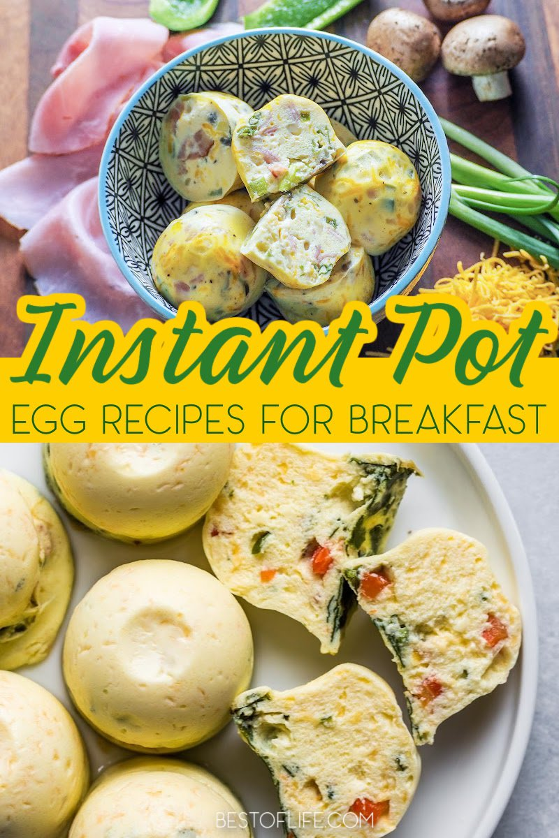Instant Pot egg recipes are easy and quick to make ensuring you have a healthy start to your day. Egg Snack Recipes   Instant Pot Ideas   Instant Pot Breakfast Recipes   Quick Breakfast Ideas   Healthy Breakfast Recipes   Healthy Recipes   Egg Breakfast Recipes   Recipes with Eggs #instantpotrecipes #breakfastrecipes via @thebestoflife