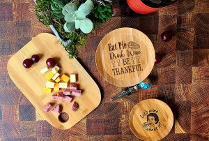 Fall Wine Glass Toppers Eat Pie Drink Wine and be Thankful