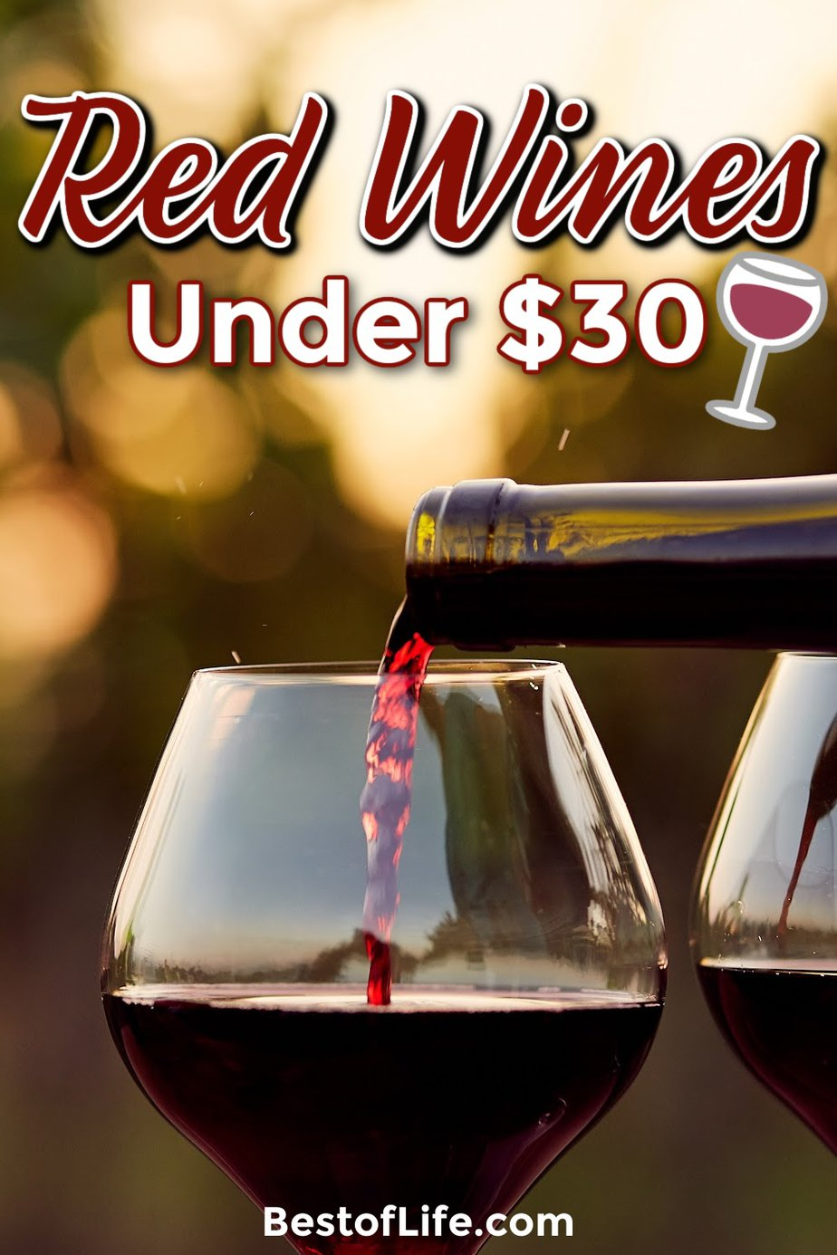 The best red wines under $30 offer a smooth profile and are perfect for dinners and happy hours with friends or a night in alone. Tips for Wine Lovers | Red Wines for Parties | Fall Party Red Wines | Good Wines Under $30 | Red Wines for Parties | Wine Tasting Tips | Wine Down #redwine #winetasting via @thebestoflife